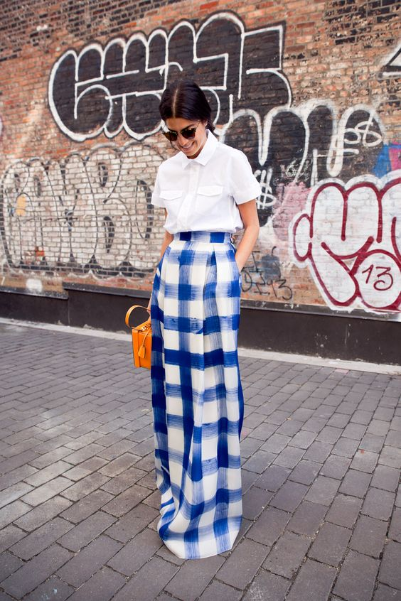 The Fashion Magpie Gingham Maxi Skirt
