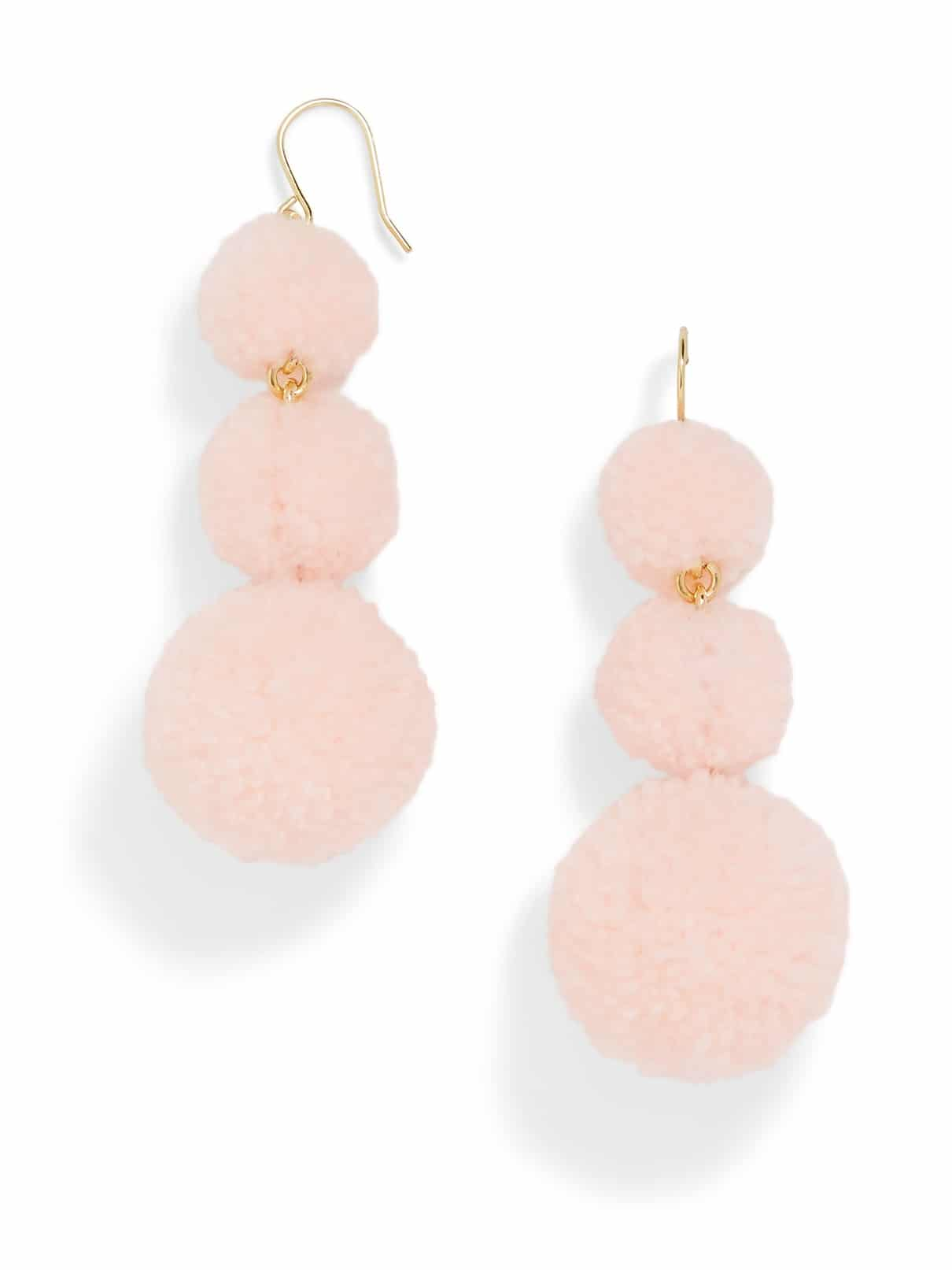the fashion magpie bauble bar pom earrings