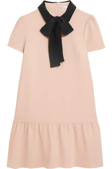 the fashion magpie red valentino pussy bow dress