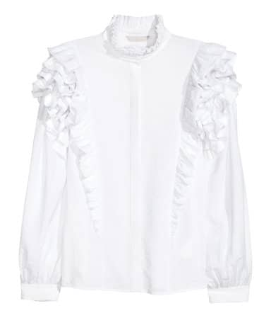 The Fashion Magpie HM Ruffled Blouse