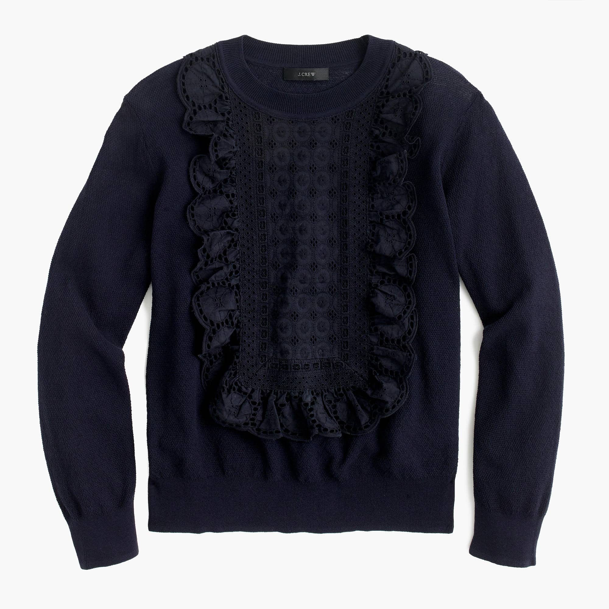 The Fashion Magpie Eyelet Sweatshirt 2