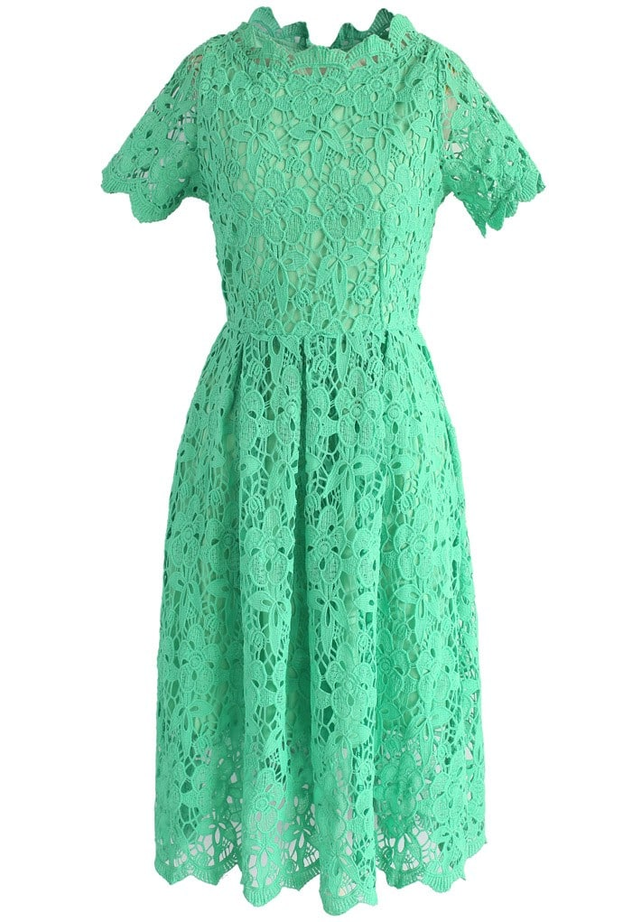 The Fashion Magpie Green Dress
