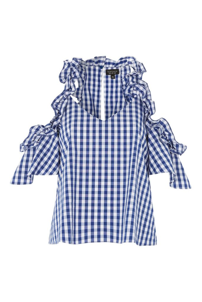 THe Fashion Magpie Gingham Ruffled Top