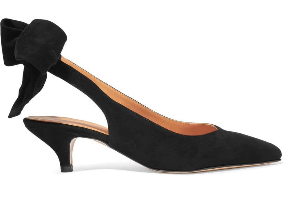 The Fashion Magpie Ganni Suede Pump