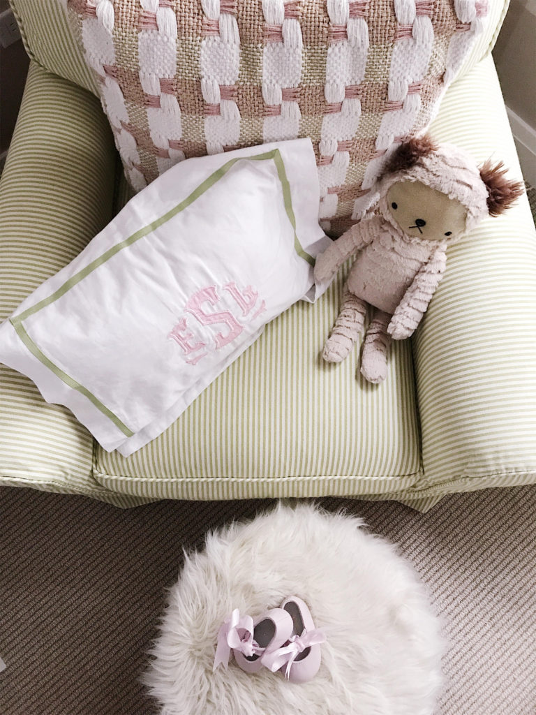 The Fashion Magpie Monogrammed Pillow