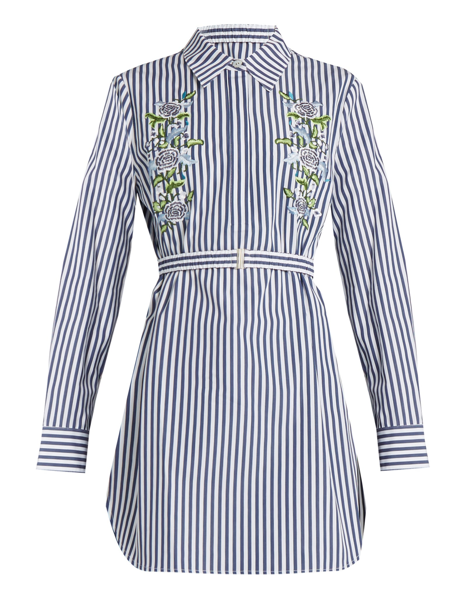 the fashion magpie adam lippes striped embroidered dress