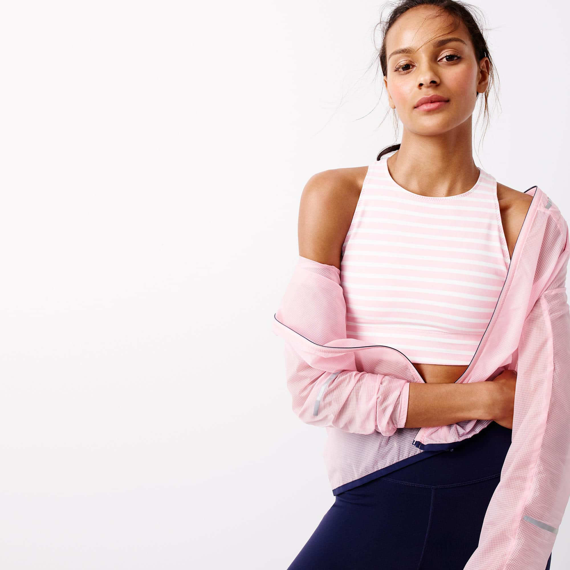 the fashion magpie j crew anorak sport pink