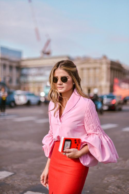 the fashion magpie pink puff sleeve