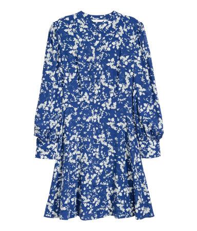 The Fashion Magpie Blue Floral Dress