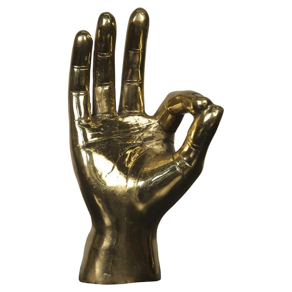 The Fashion Magpie Brass Hand