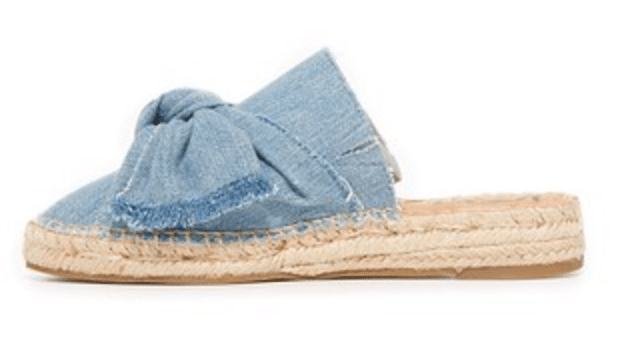 The Fashion Magpie Denim Sam Edelman Bow Espadrilles