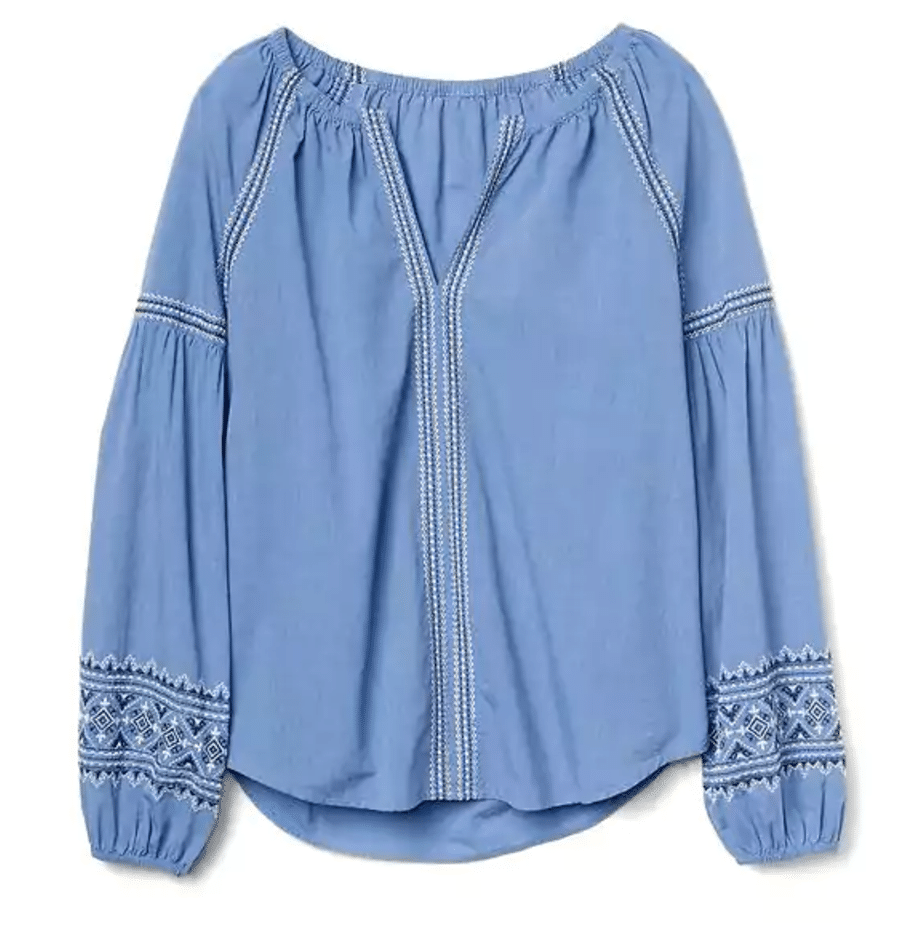 The Fashion Magpie Gap Embroidered Peasant Top