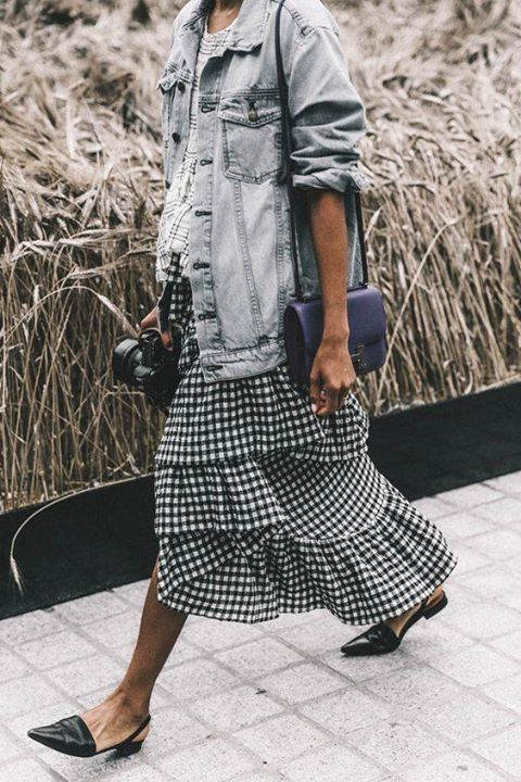 The Fashion Magpie Gingham Maxi Skirt 3
