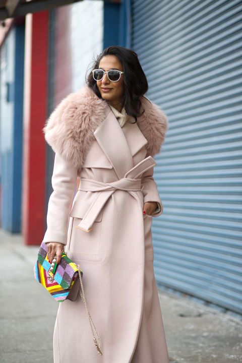 the fashion magpie pale pink street style