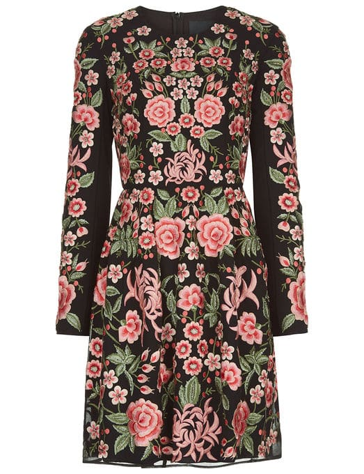 The Fashion Magpie Needle Thread Floral Dress