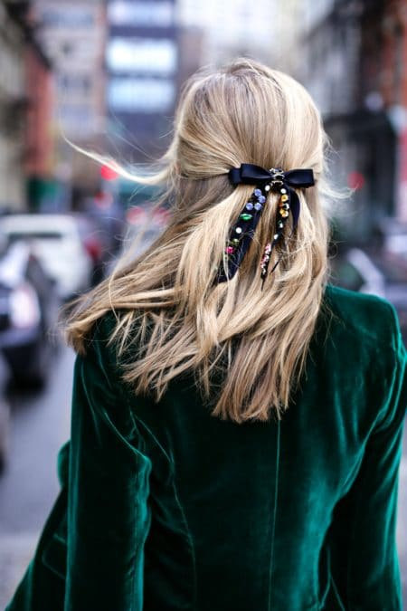 The Fashion Magpie Velvet Hairbow
