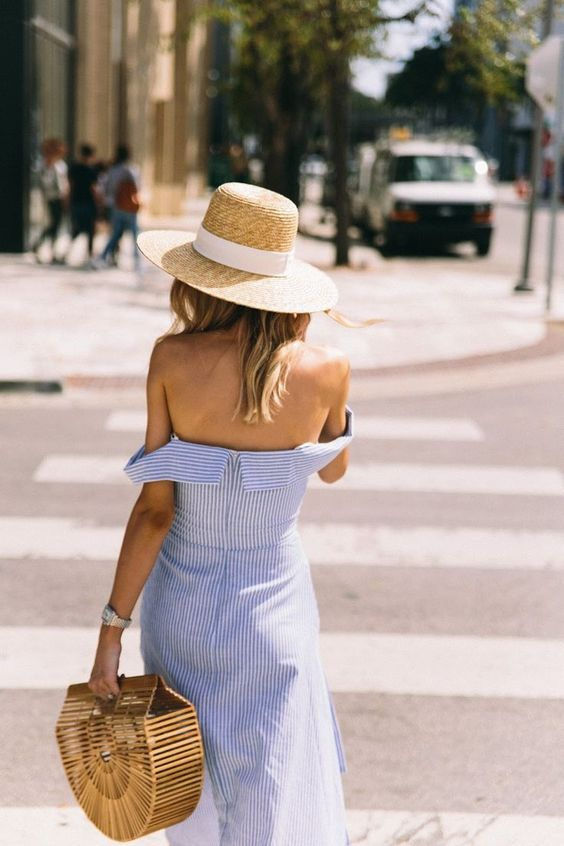 The Fashion Magpie Blue and White Street Style 3