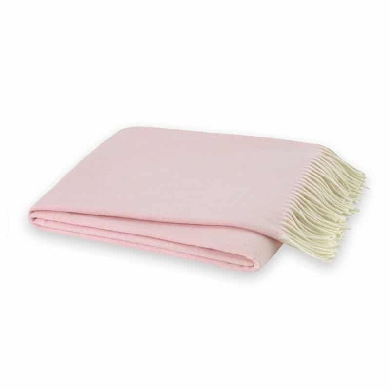 The Fashion Magpie Pink Throw