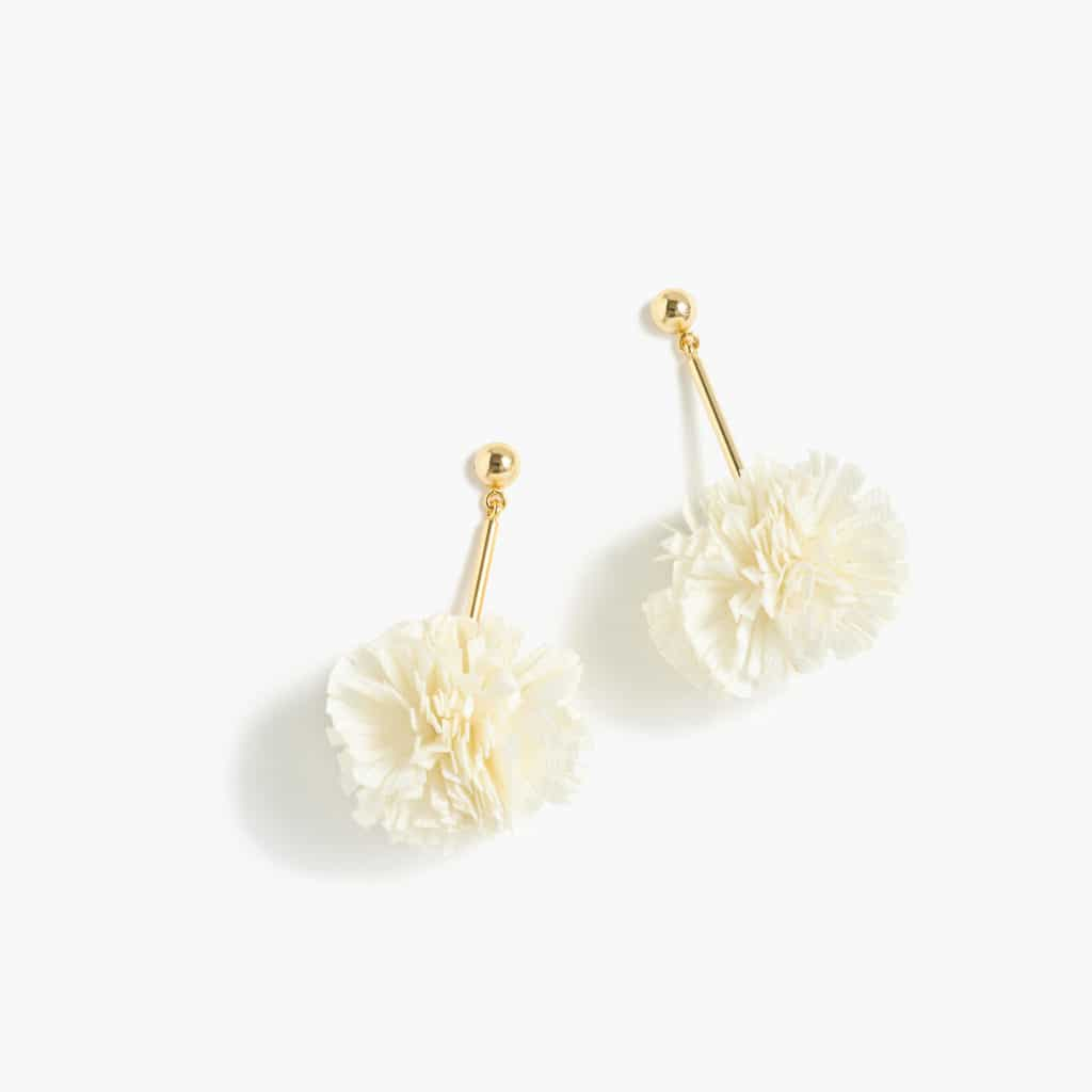 The Fashion Magpie JCrew Gathered Carnation Earrings 2