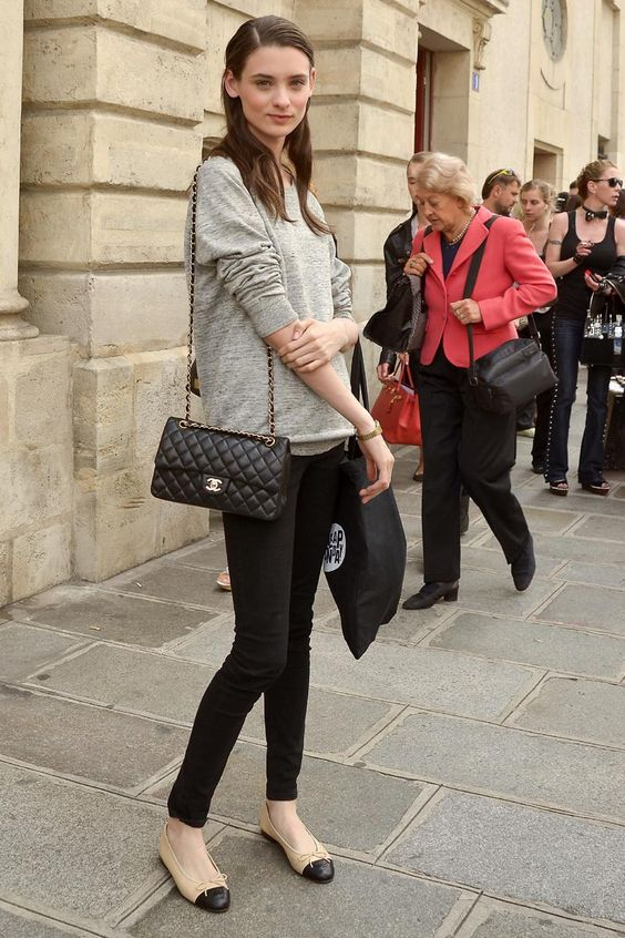 The Fashion Magpie Chanel Flats Street Style 1