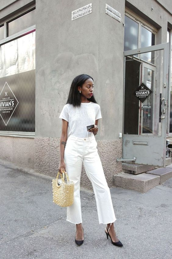 The Fashion Magpie Cropped Denim Wide Leg Street Style 2