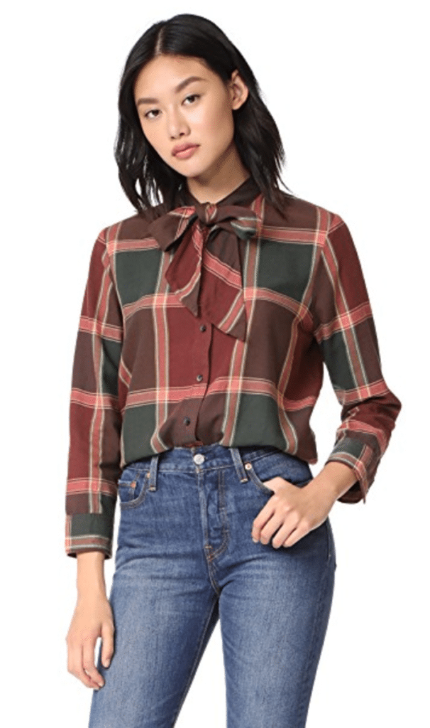The Fashion Magpie Madewell Plaid Blouse
