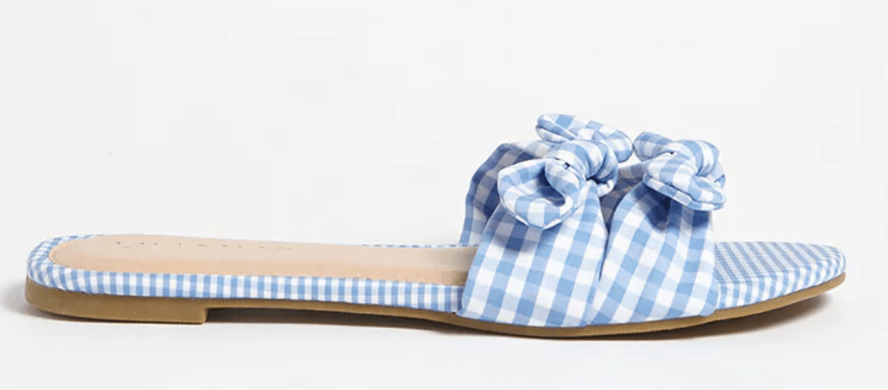 The Fashion Magpie Gingham Slides 2