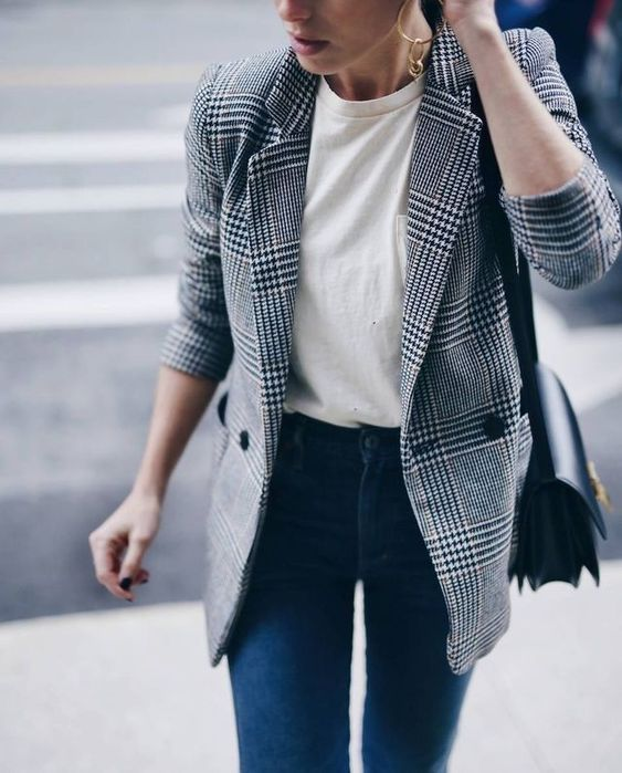 The Fashion Magpie Gray Plaid Trend 1
