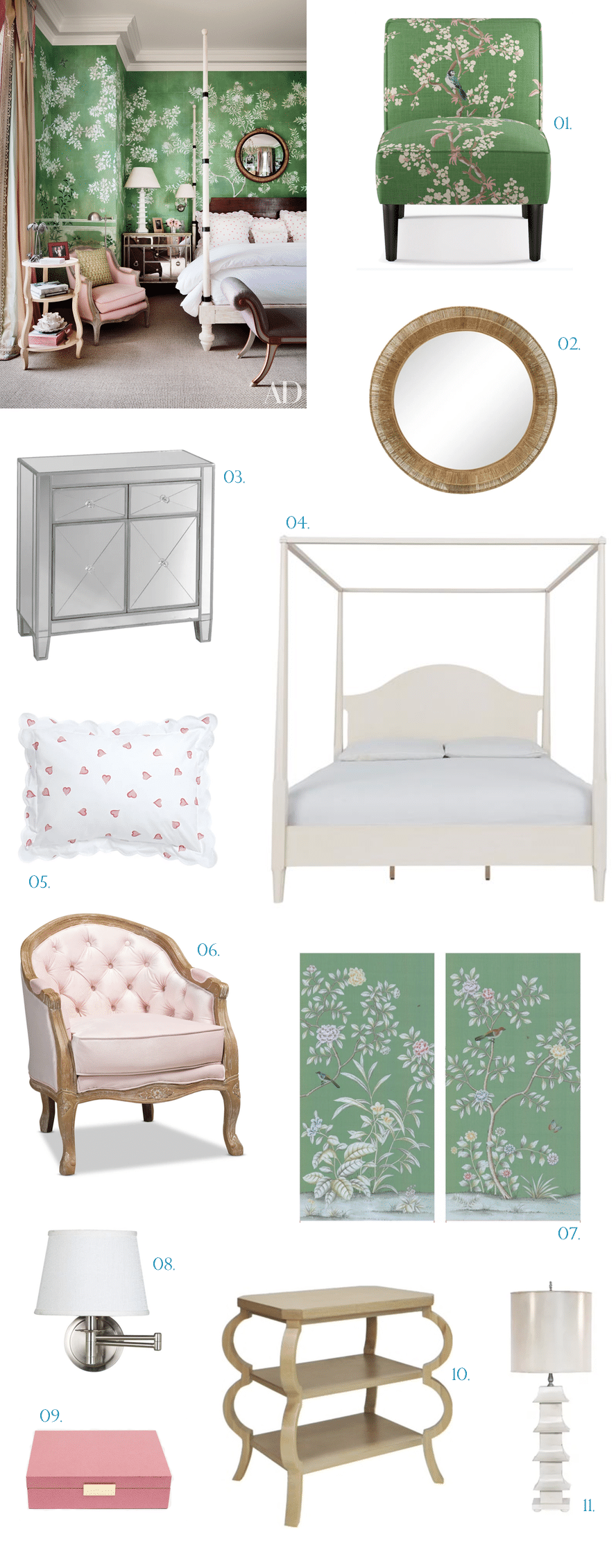 chinoserie themed bedroom refresh