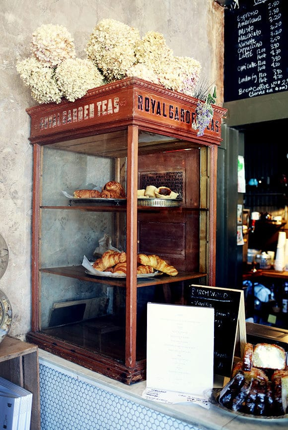 french pastry case