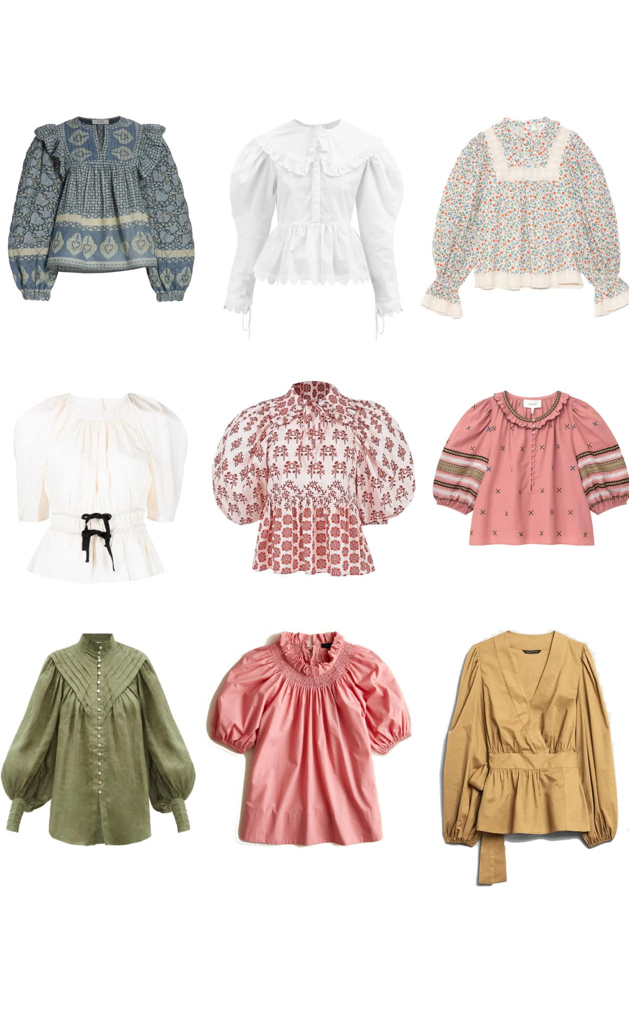 late summer blouses